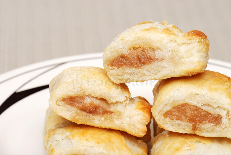 Homemade Sausage Rolls Royalty Free Stock Images