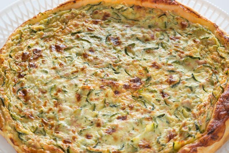 Homemade savory cake with zucchini stock photo