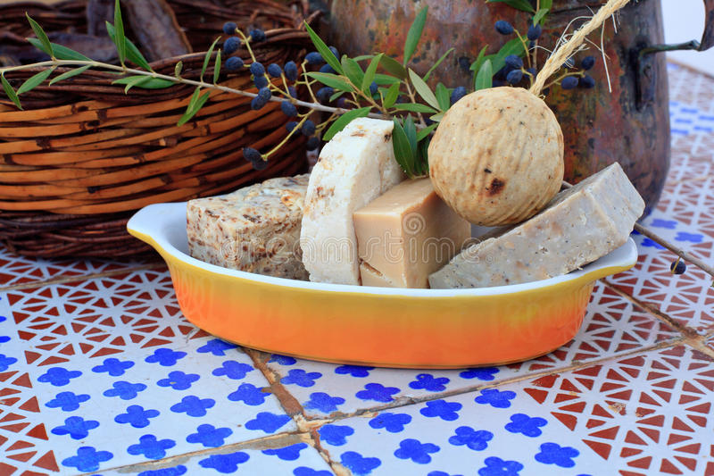 Homemade soaps. Photo of natural Homemade soaps royalty free stock photography