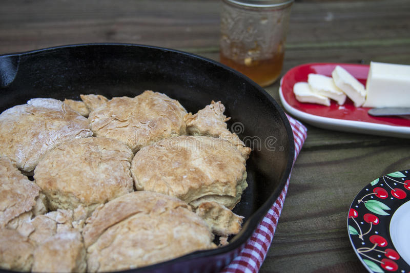 Homemade Southern Biscuits royalty free stock image