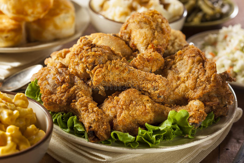 Homemade Southern Fried Chicken royalty free stock image