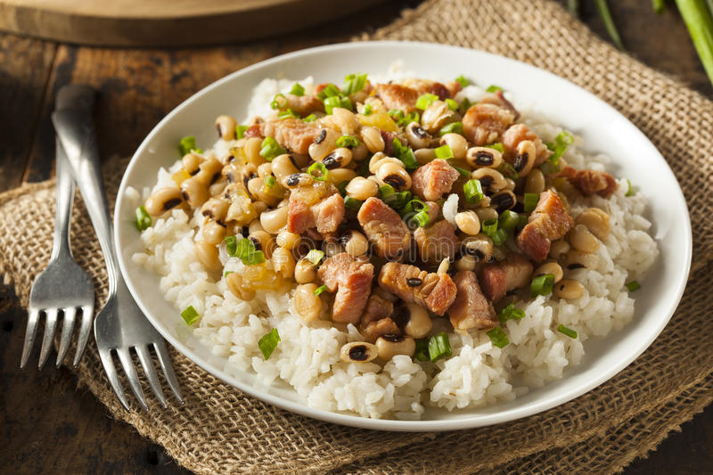 Homemade Southern Hoppin John. With Rice and Pork royalty free stock images