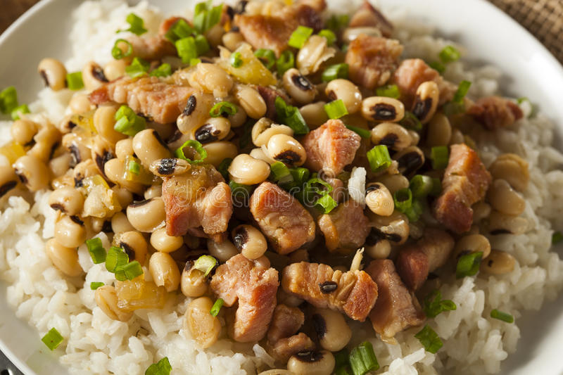 Homemade Southern Hoppin John. With Rice and Pork royalty free stock photo