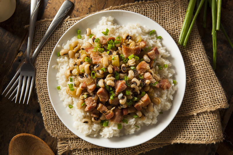 Homemade Southern Hoppin John. With Rice and Pork royalty free stock photography