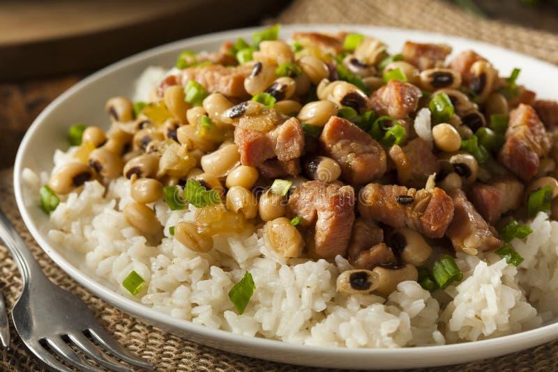 Homemade Southern Hoppin John. With Rice and Pork stock image