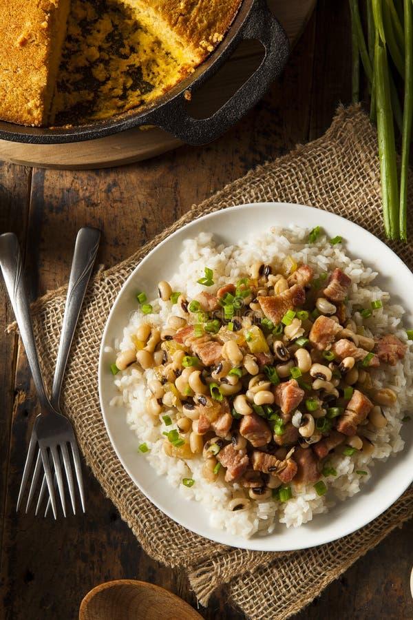 Homemade Southern Hoppin John. With Rice and Pork stock photos