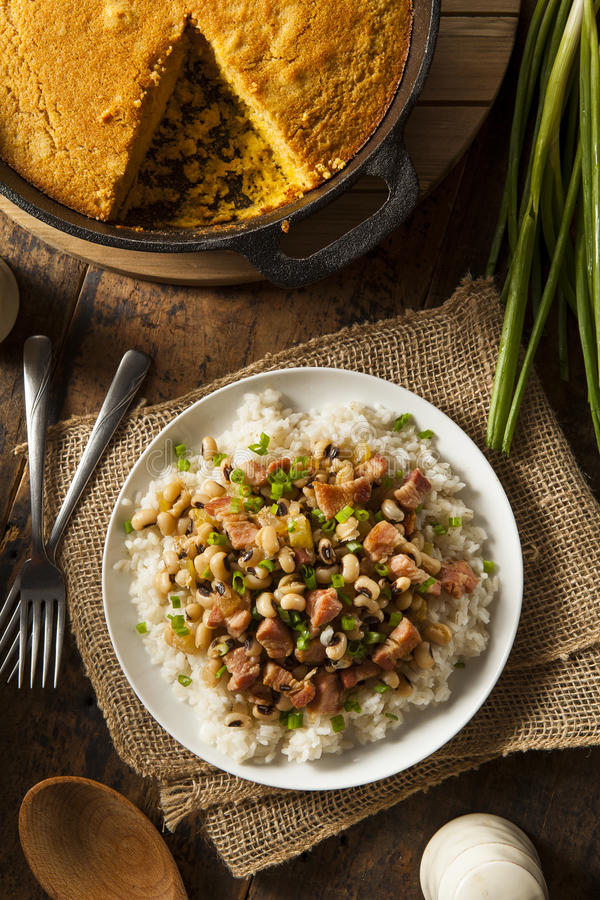 Homemade Southern Hoppin John. With Rice and Pork royalty free stock image