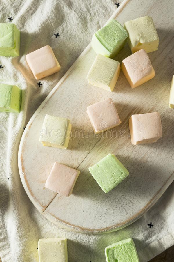 Homemade Square Fruity Colorful Marshmallows royalty free stock photography