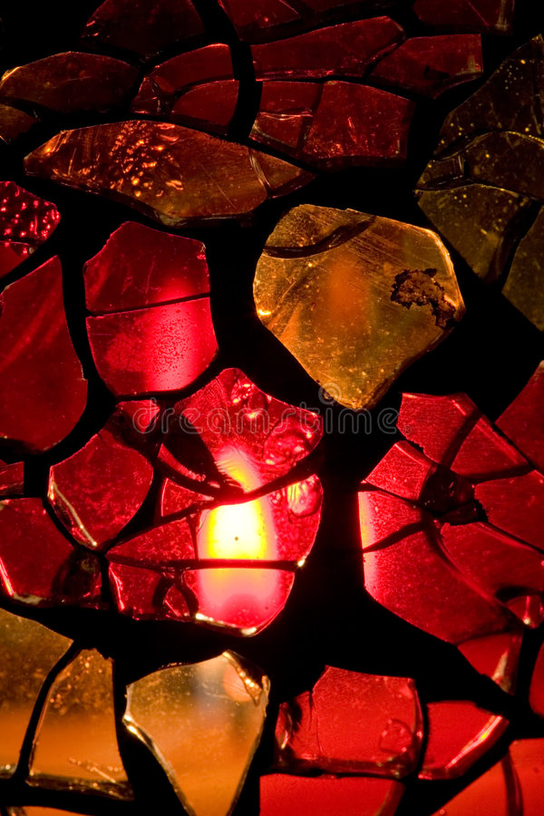 Free Homemade Stained Glass Vase Stock Photography - 3789792