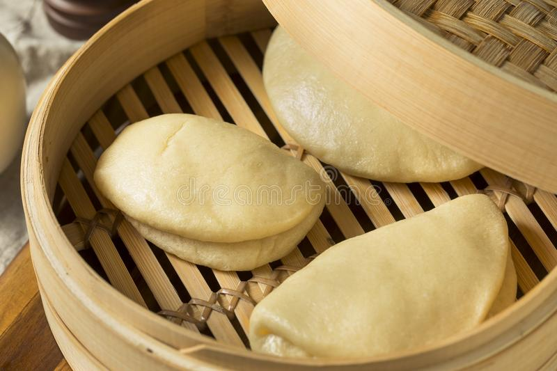 Homemade Steamed Chinese Bao Buns. Ready to Eat royalty free stock image