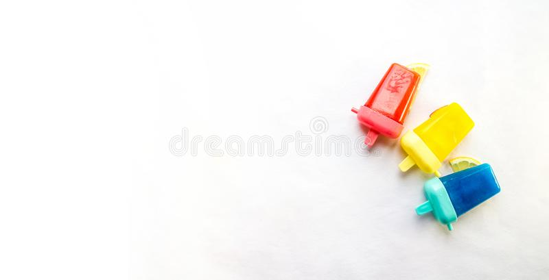 Homemade Popsicles isolated royalty free stock photos