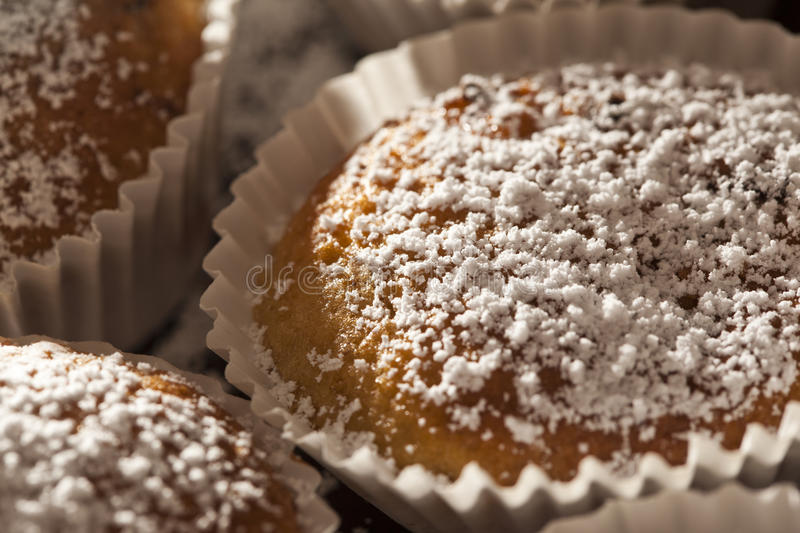 Download Homemade sugar muffins stock image. Image of close, food - 23740387