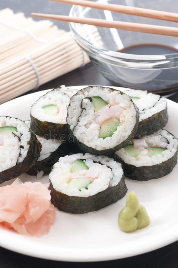 Download Homemade Sushi stock photo. Image of plate, lactose, gluten - 24662582