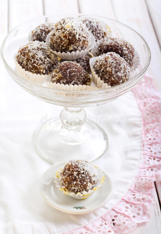 Homemade sweet balls stock image
