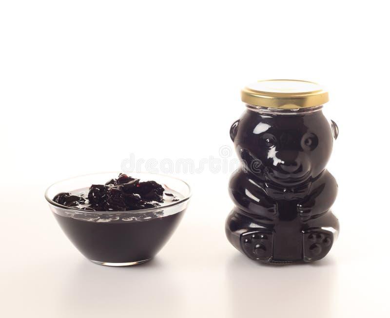 Homemade sweet cherry jam royalty free stock photos