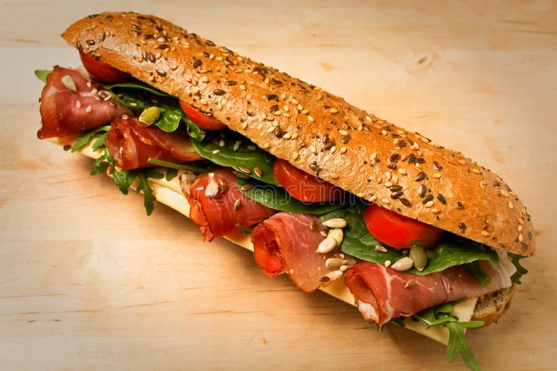 Food photograhphy. Homemade tasty sandwiches. so tasty royalty free stock image