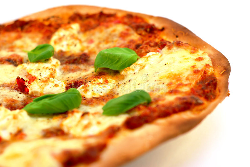 Homemade thin crust pizza royalty free stock images
