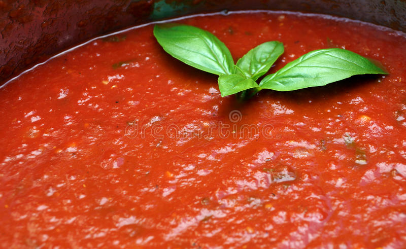 Homemade Tomato Sauce Royalty Free Stock Image