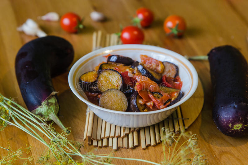 Homemade vegetable stew lecho stock images