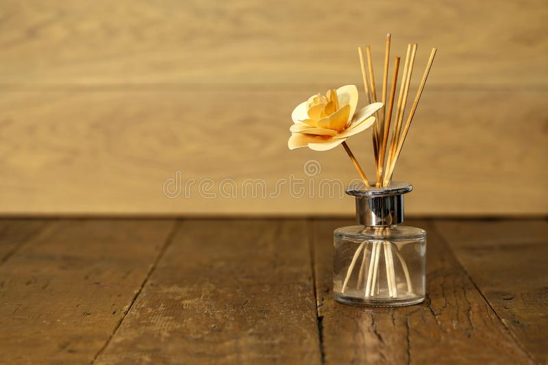 A homemade wooden rose in a vase stock images