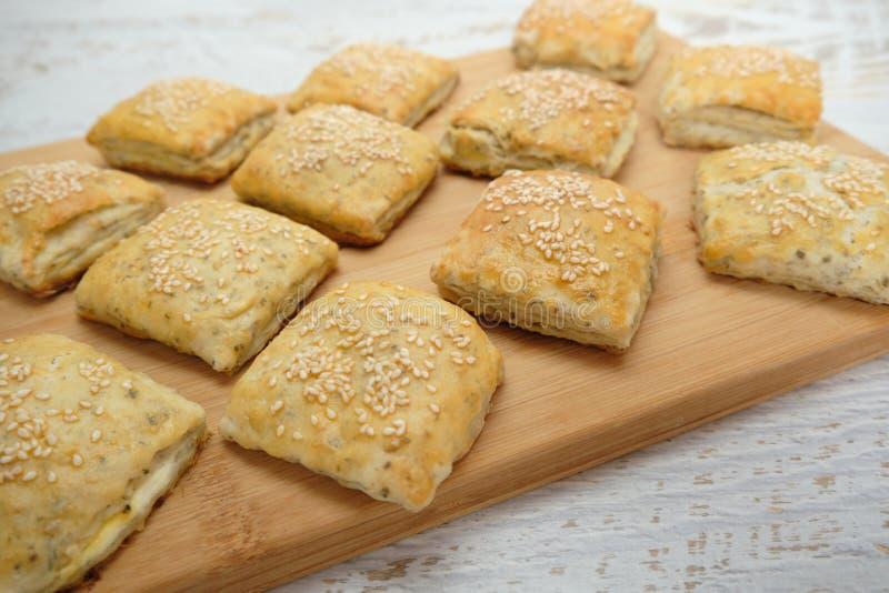 Homemietsbrood als snacks stock fotografie