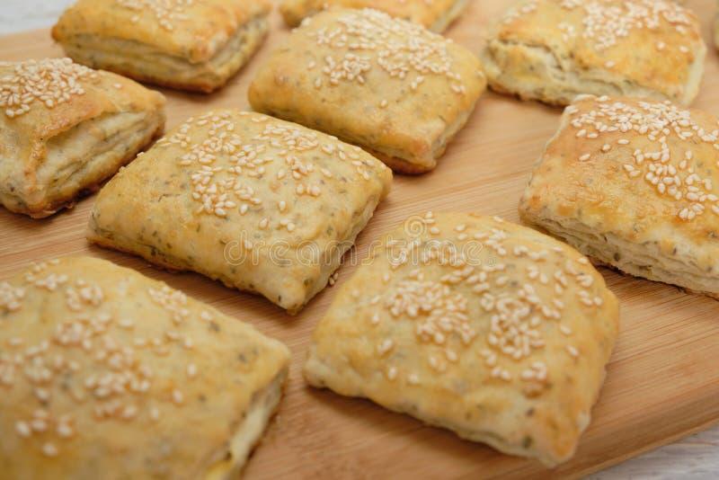 Homemietsbrood als snacks royalty-vrije stock foto