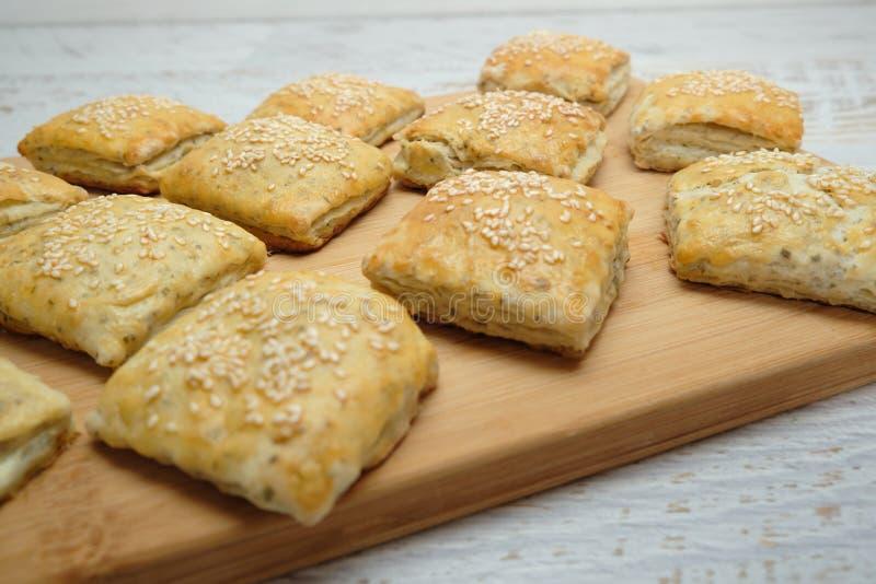 Homemietsbrood als snacks stock afbeeldingen