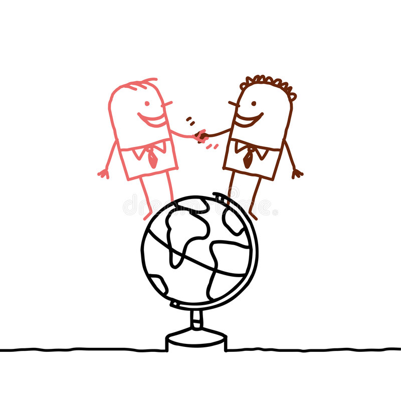 Homens & paz ilustração stock