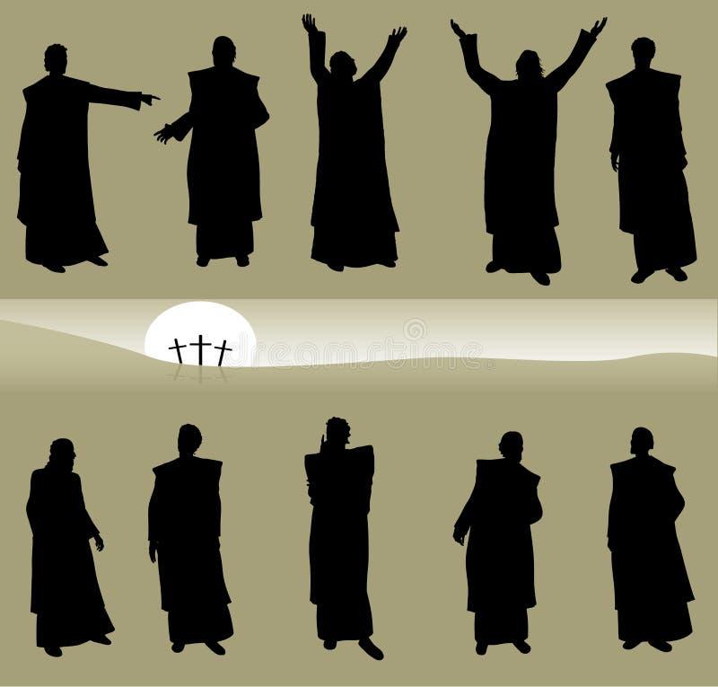 Homens bíblicos ilustração royalty free