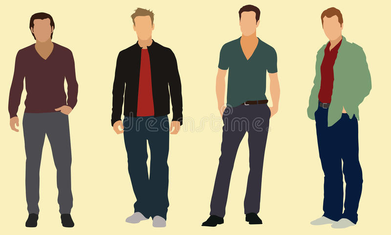Homens bem vestidos ilustração do vetor