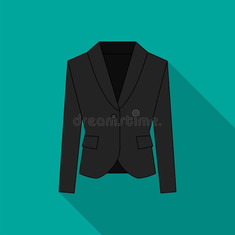 Homens blazer ou ícone liso simples do vetor do símbolo do revestimento ou do terno na linha projeto ilustração do vetor