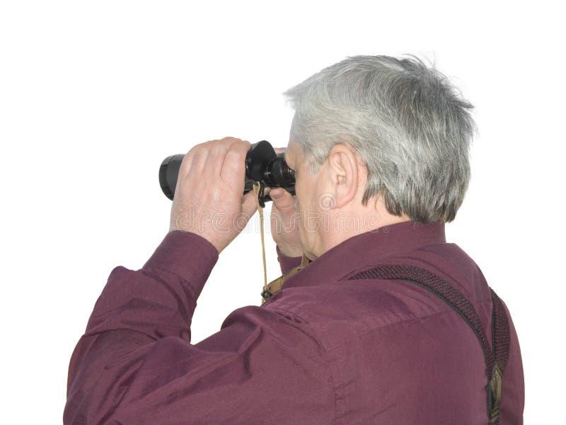 Homens com binóculos imagem de stock royalty free