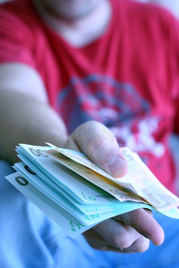 Homens com euro fotos de stock royalty free