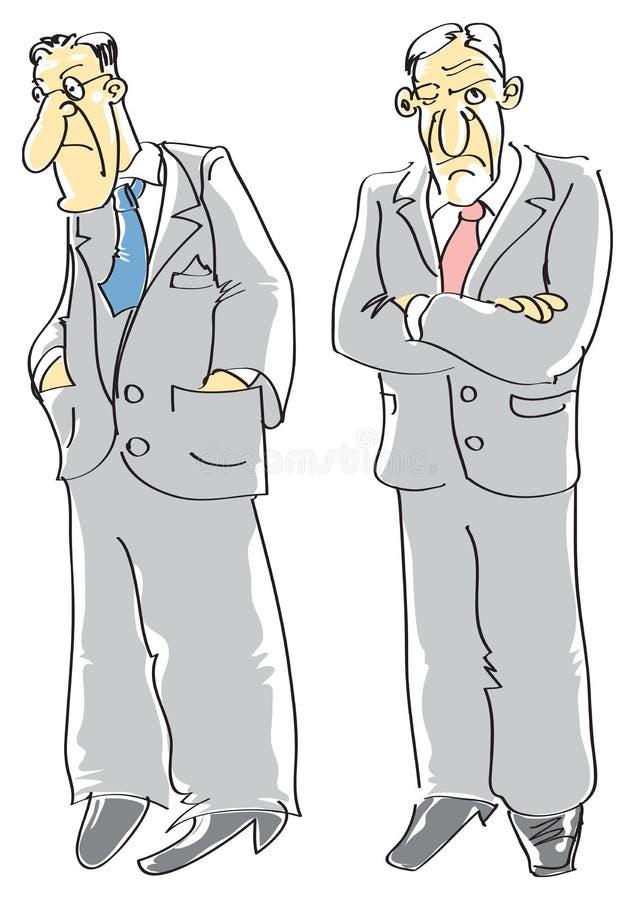 Homens comprimidos ilustração royalty free