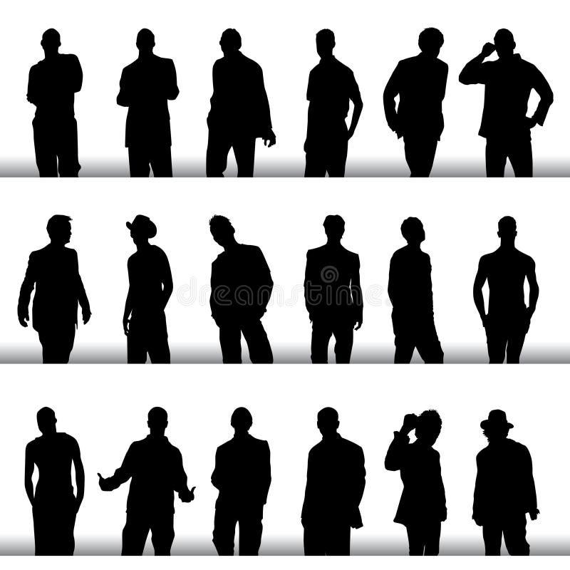 Homens da forma ilustração do vetor