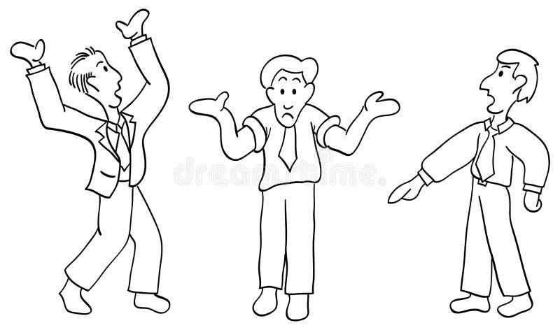 Homens de disputa ilustração do vetor