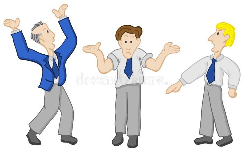 Homens de disputa ilustração royalty free