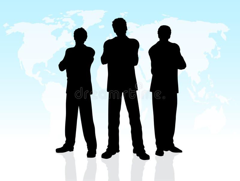 Homens de negócio ilustração royalty free