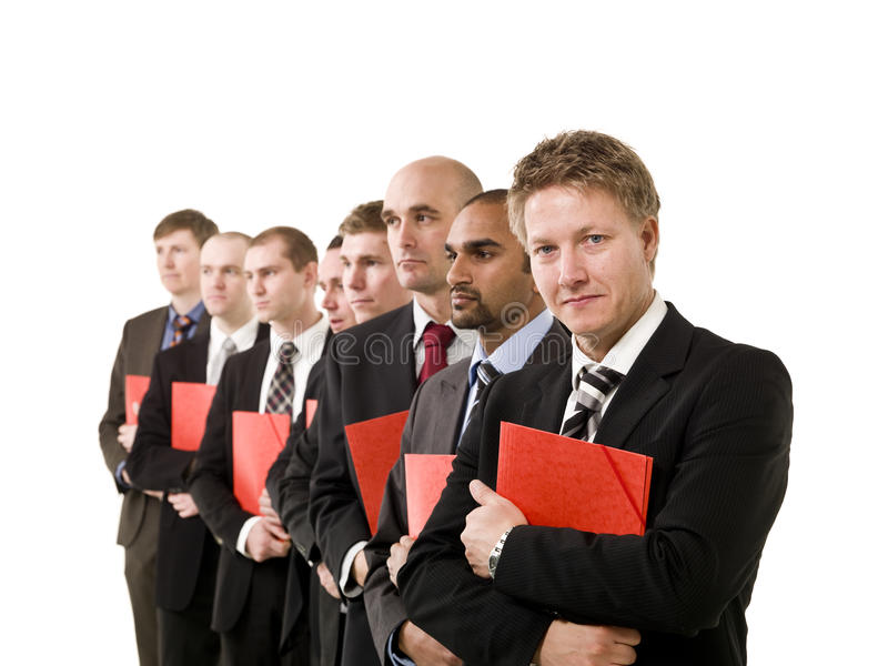 Homens de negócio com originais foto de stock