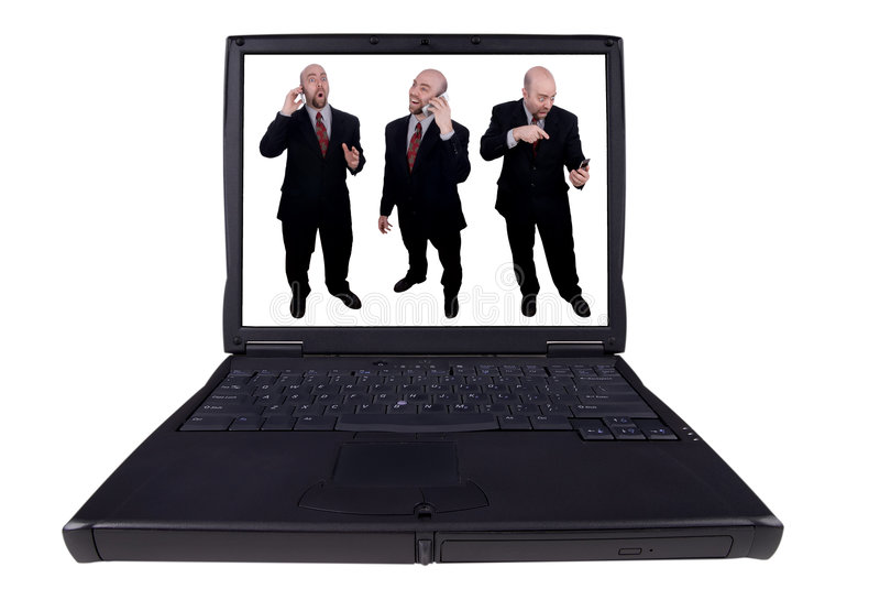Homens de negócio do portátil imagem de stock royalty free