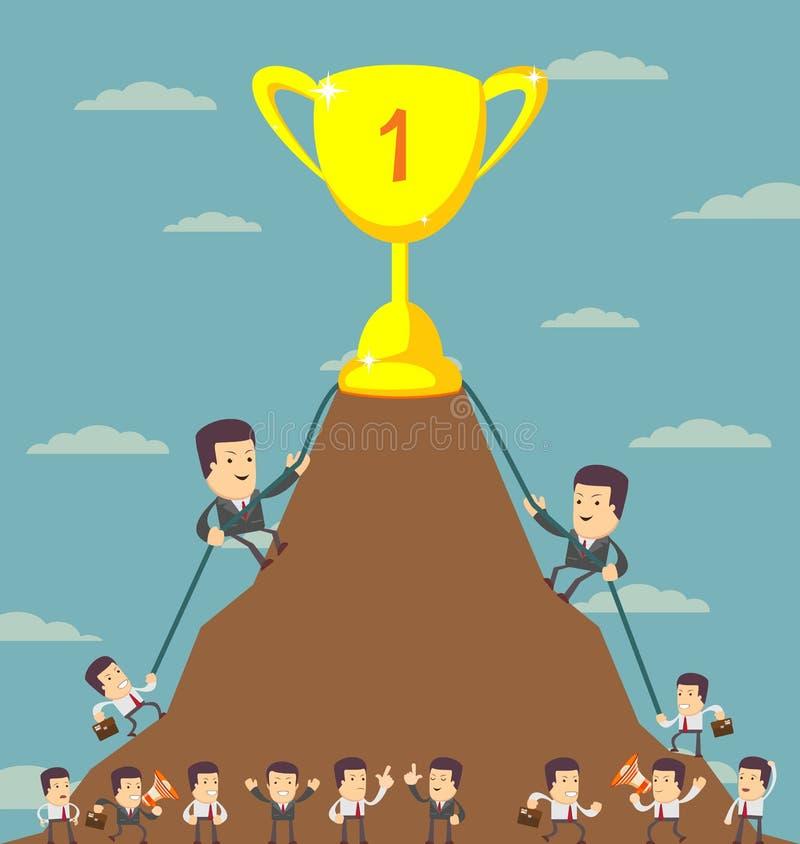 Homens de negócio na raça da carreira ilustração royalty free