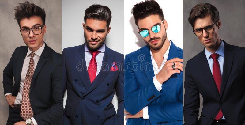 4 homens de negócio novos diferentes fotografia de stock