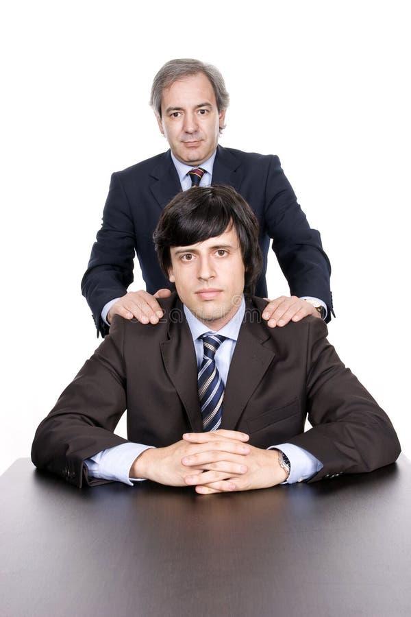 Homens de negócio retrato, pai e filho fotos de stock