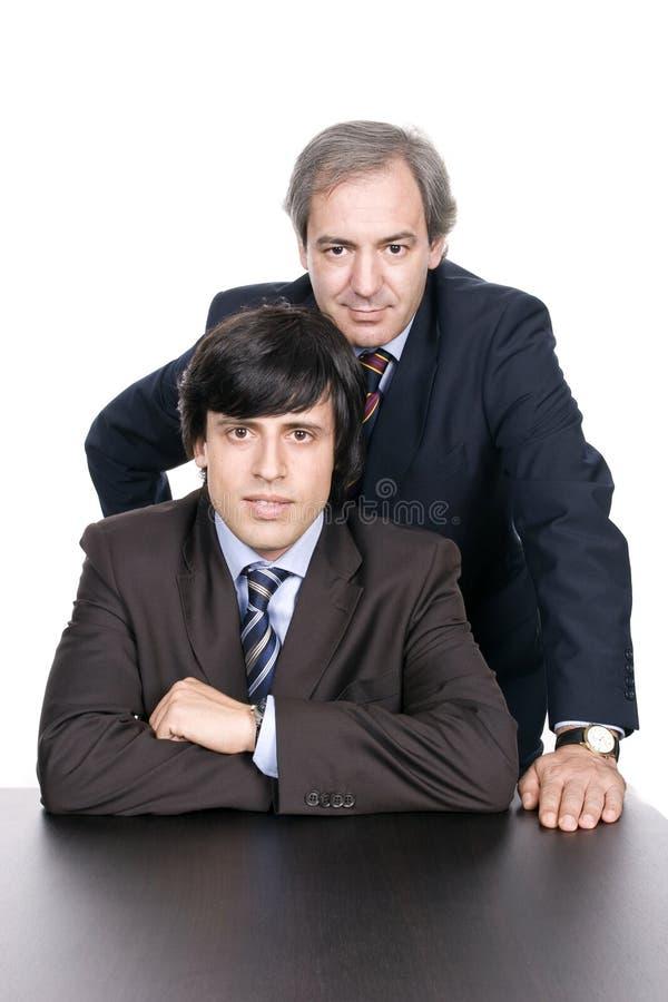 Homens de negócio retrato, pai e filho fotografia de stock