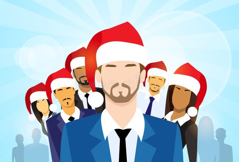 Homens de negócios com grupo de executivos de ano novo ilustração do vetor