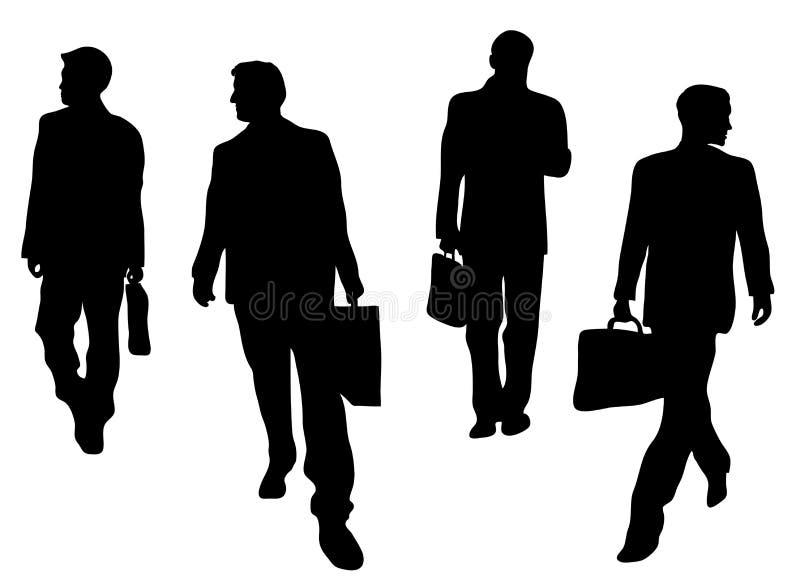 Homens de negócios de vinda e indo ilustração royalty free