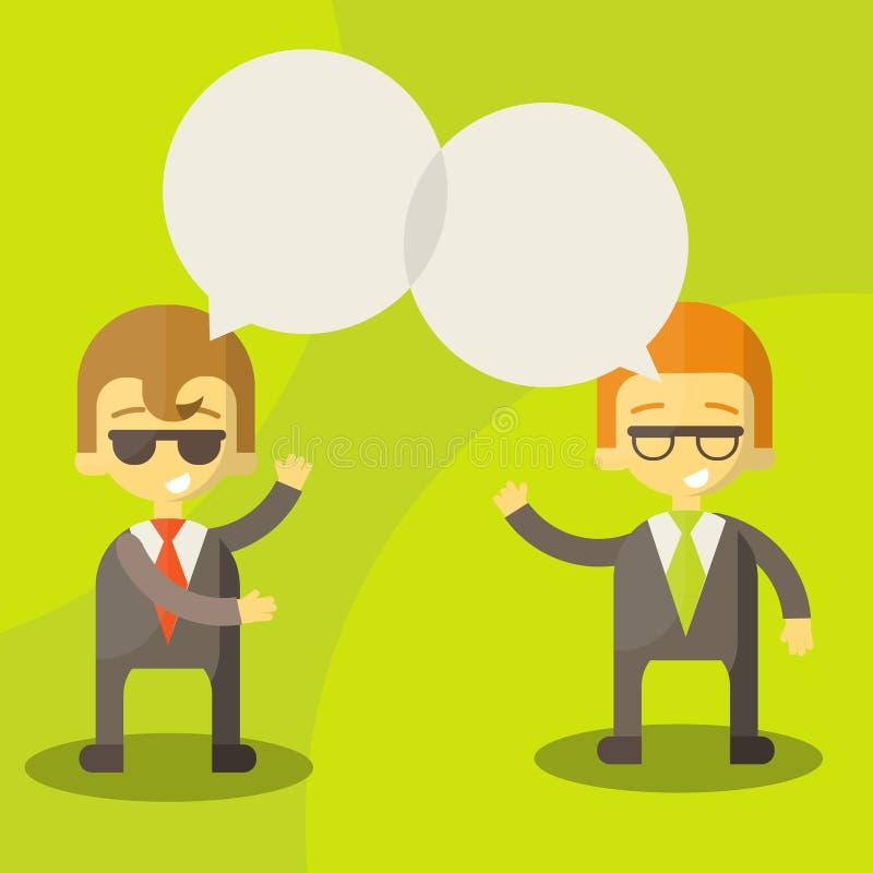 Homens de negócios do diálogo ilustração do vetor