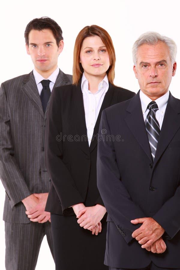 Homens de negócios e mulher de negócios fotografia de stock