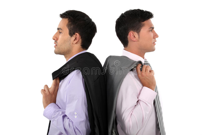 Homens de negócios lado a lado fotografia de stock royalty free