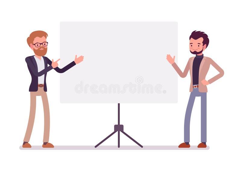Homens de negócios na apresentação fotografia de stock